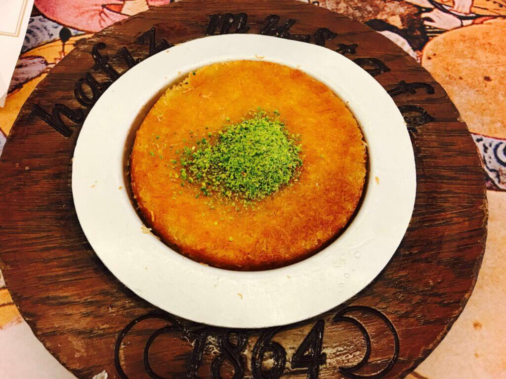 kunafeh or kunafah dessert
