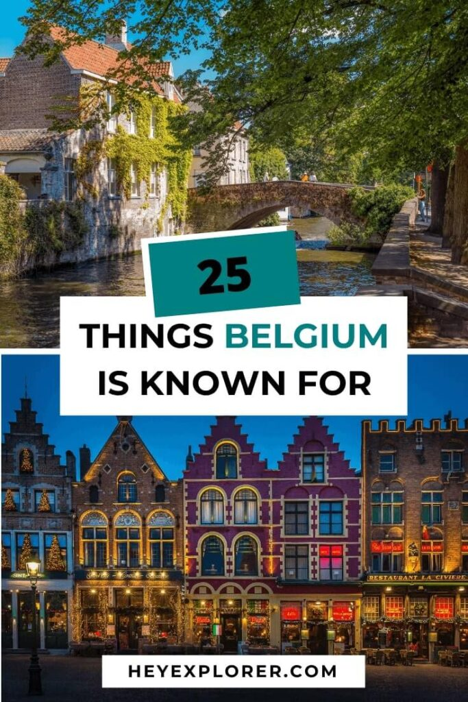 what is belgium famous for