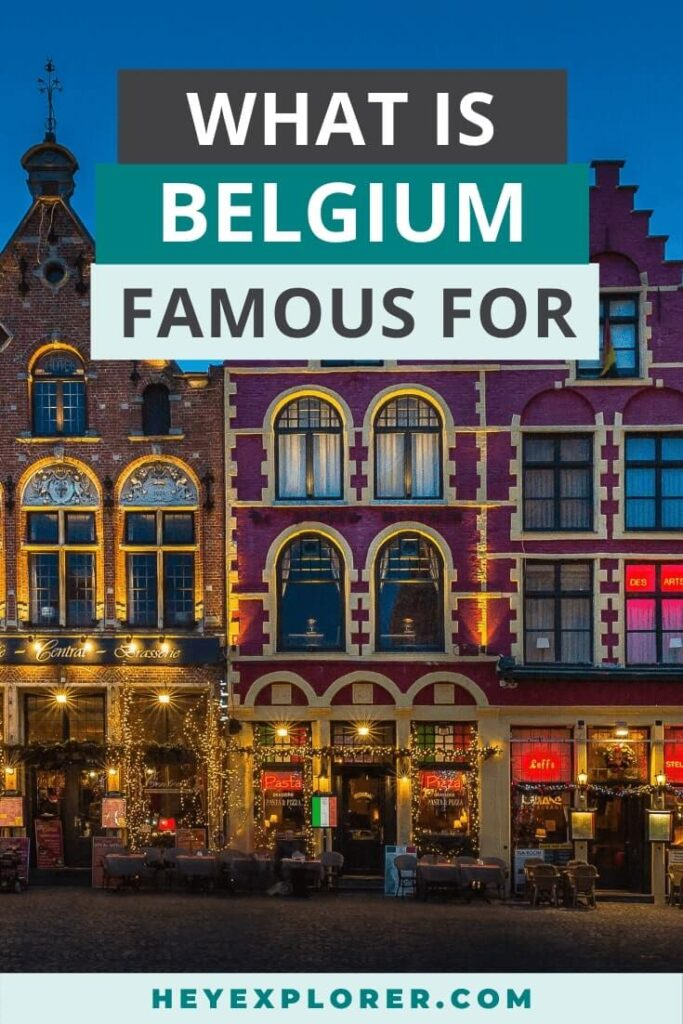what is belgium known for