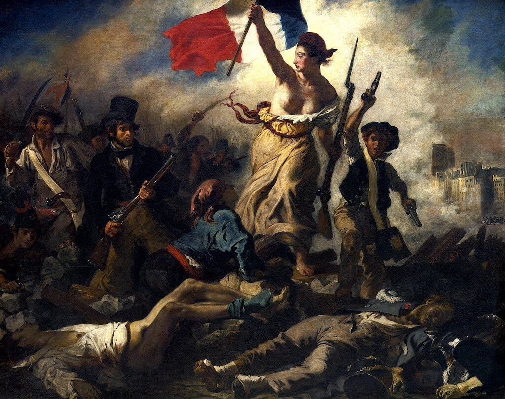 Painting that depicts the French Revolution