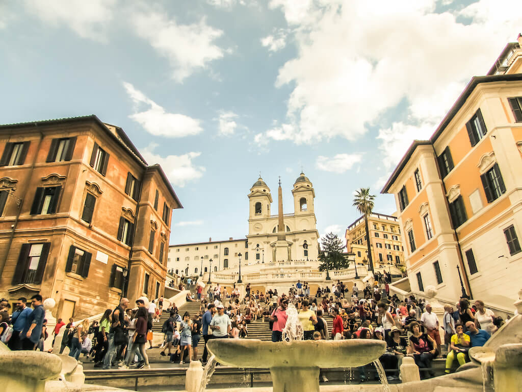 The Spanish Steps is found at Piazza di Spagna