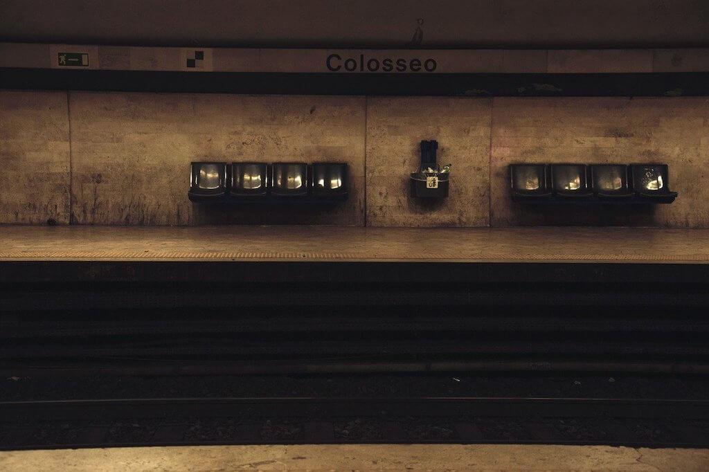 The metro in Rome