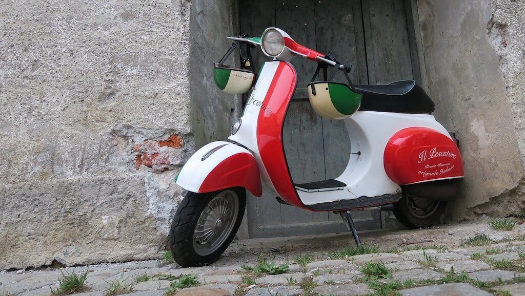 A moped in Rome