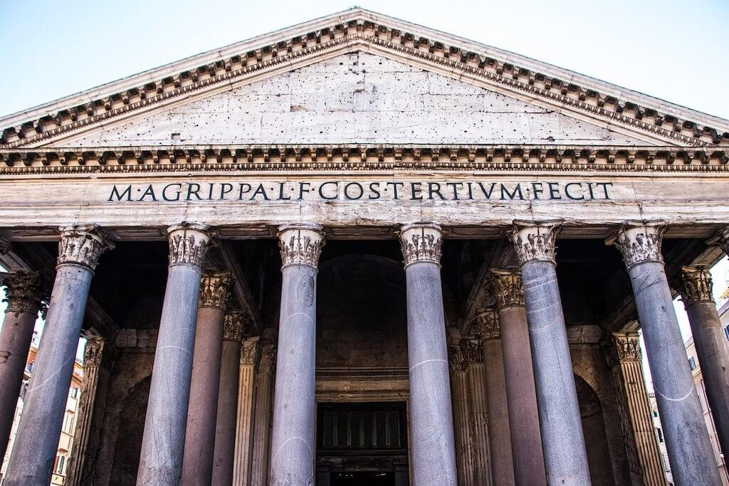 Facade of Rome's pantheon