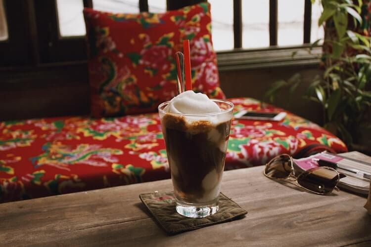 coconut coffee slushie