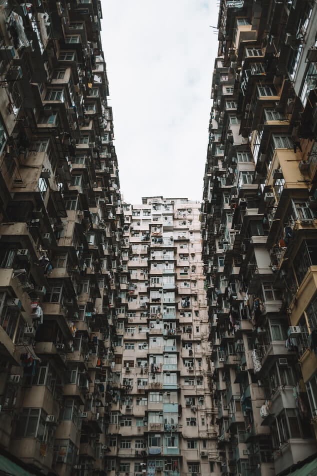 Claustrophobic buildings in Hong Kong