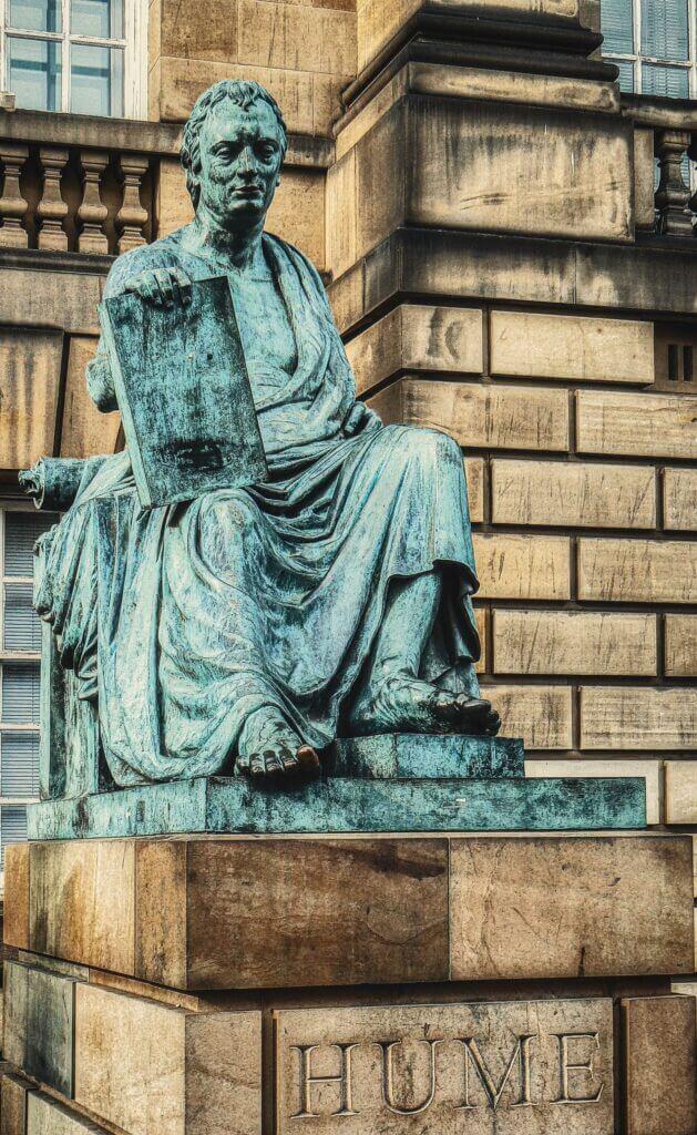 david hume statue in edinburgh