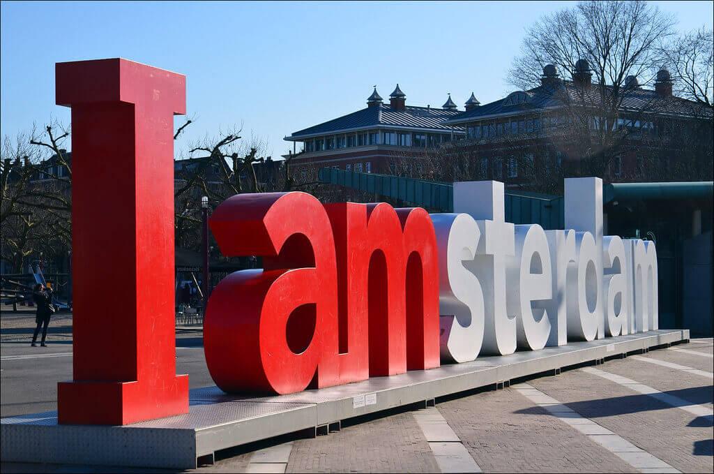 The I amsterdam landmark