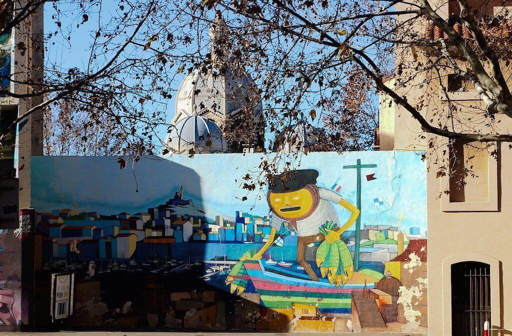 Le Panier district in Marseille