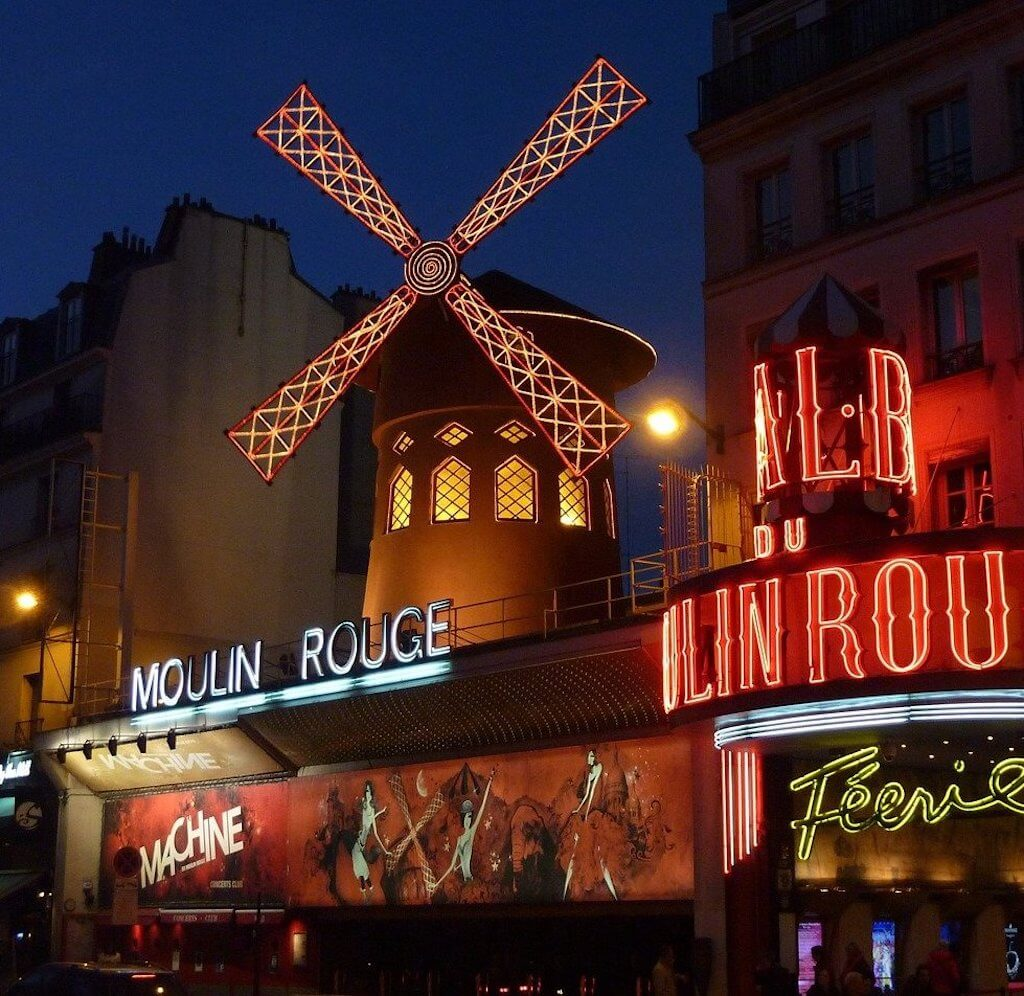 Paris is famous for the cabarets