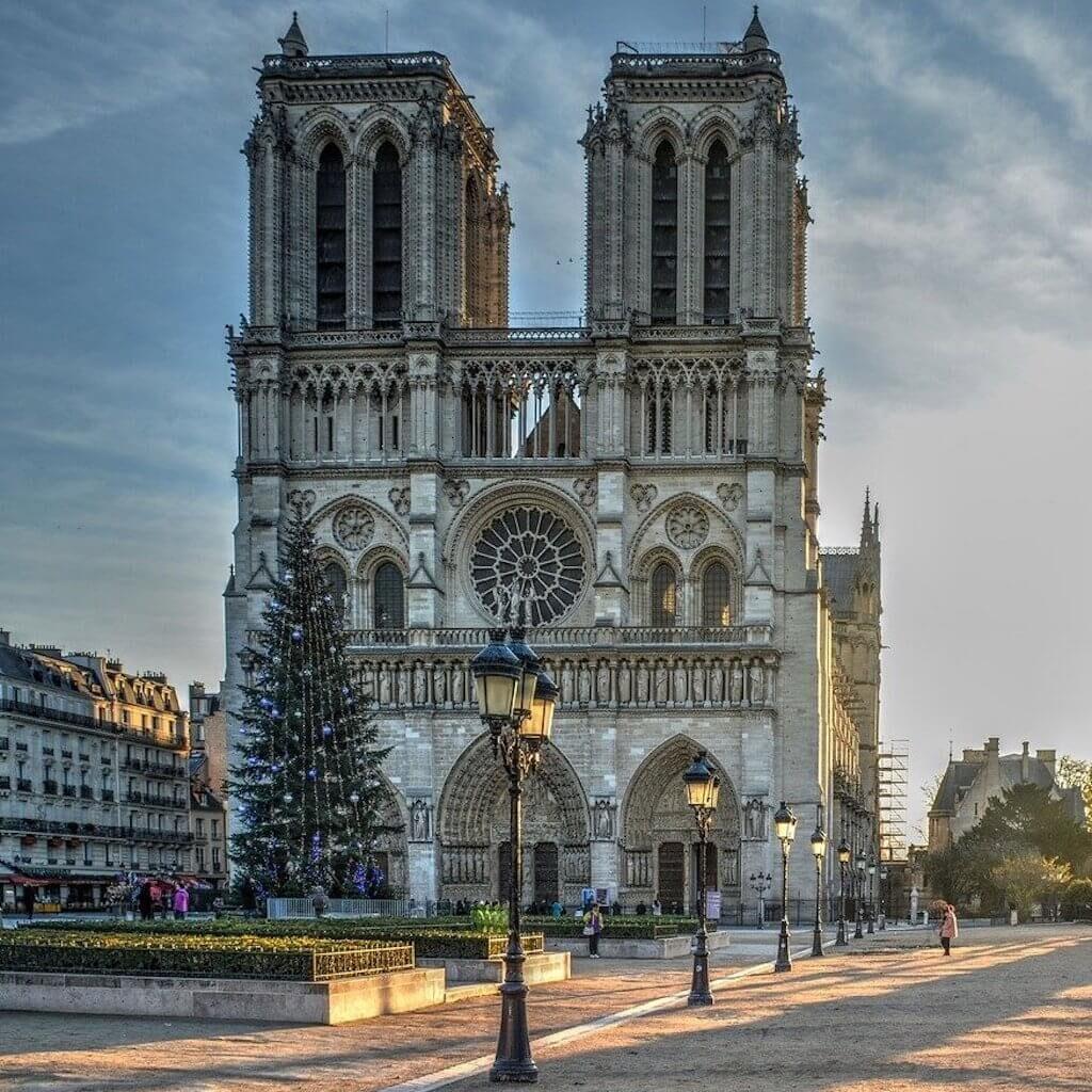 Paris is famous for Notre-Dame