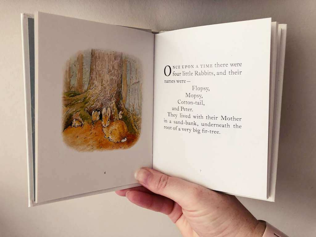 A page of Peter Rabbit