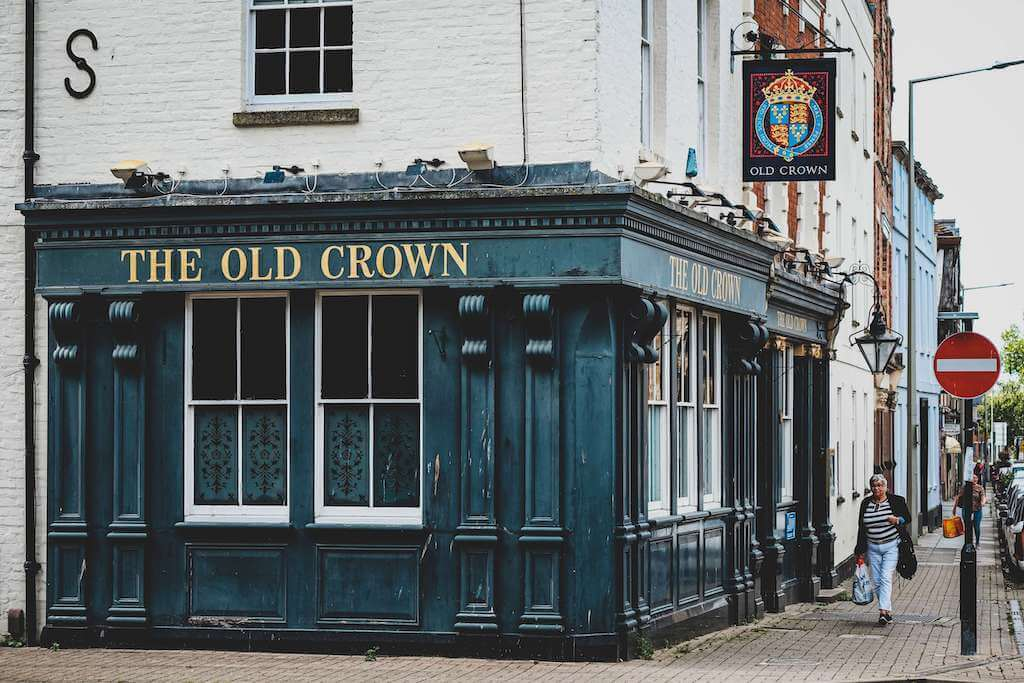An English pub called The Old Crown