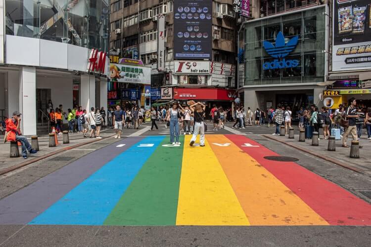 LGBT art in Ximending