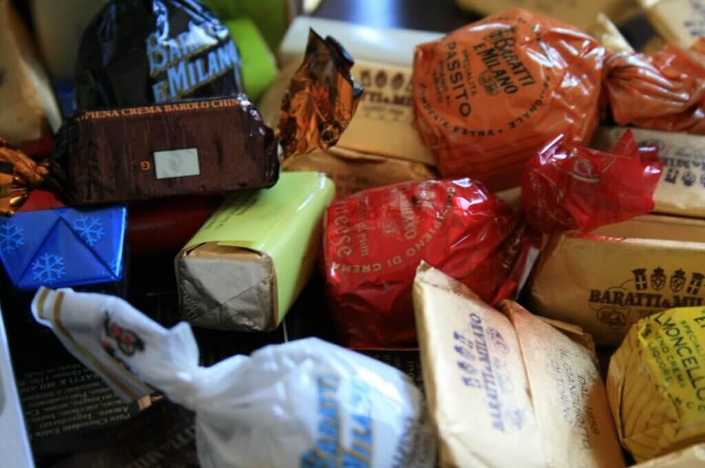 Chocolate products by Baratti & Milano
