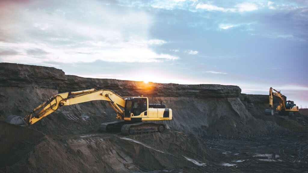 tractor mining coal