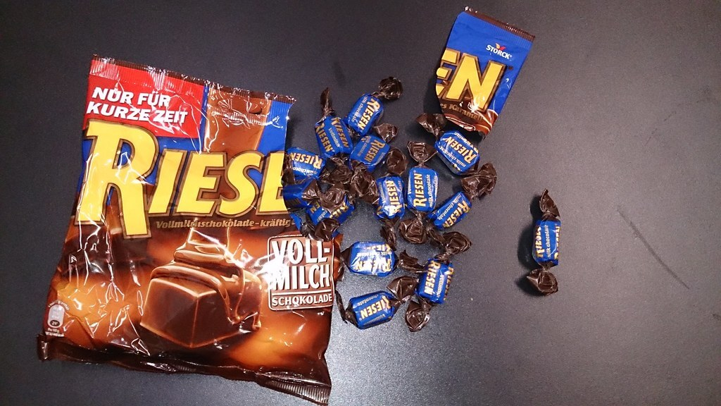 Riesen is known for its chocolate-flavored caramel