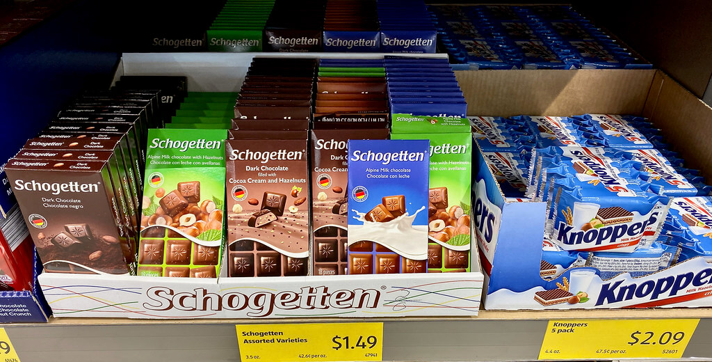 Chocolates by the German chocolate brand Schogetten