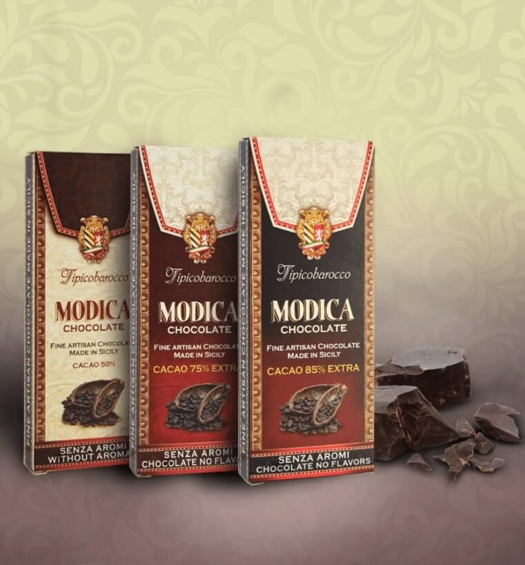 Modica chocolates by Tipico Barocco