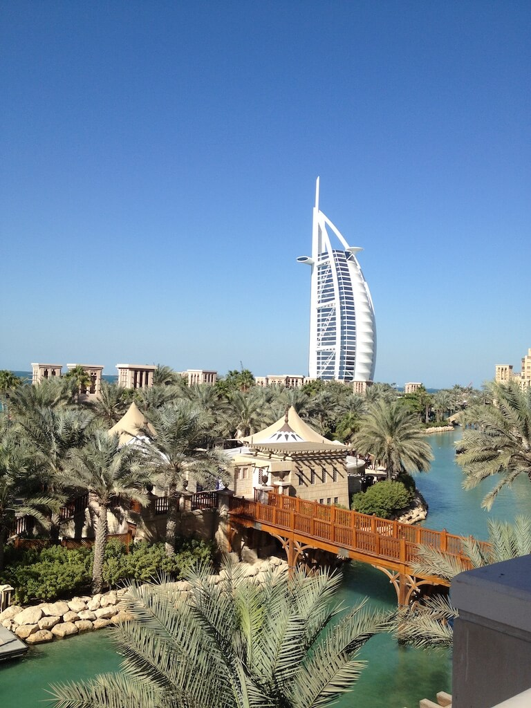Burj Al Arab, as seen from Jumeirah Mina A'Salam Hotel