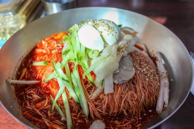 korean cold buckwheat noodles