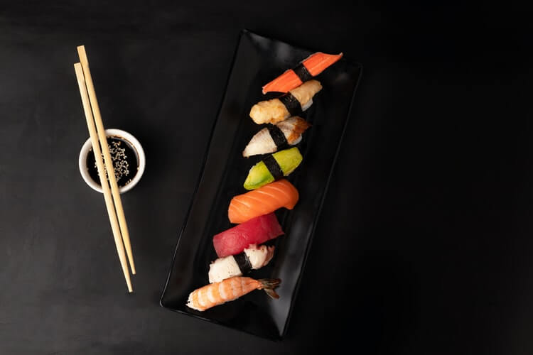 colorful sushi on a plate