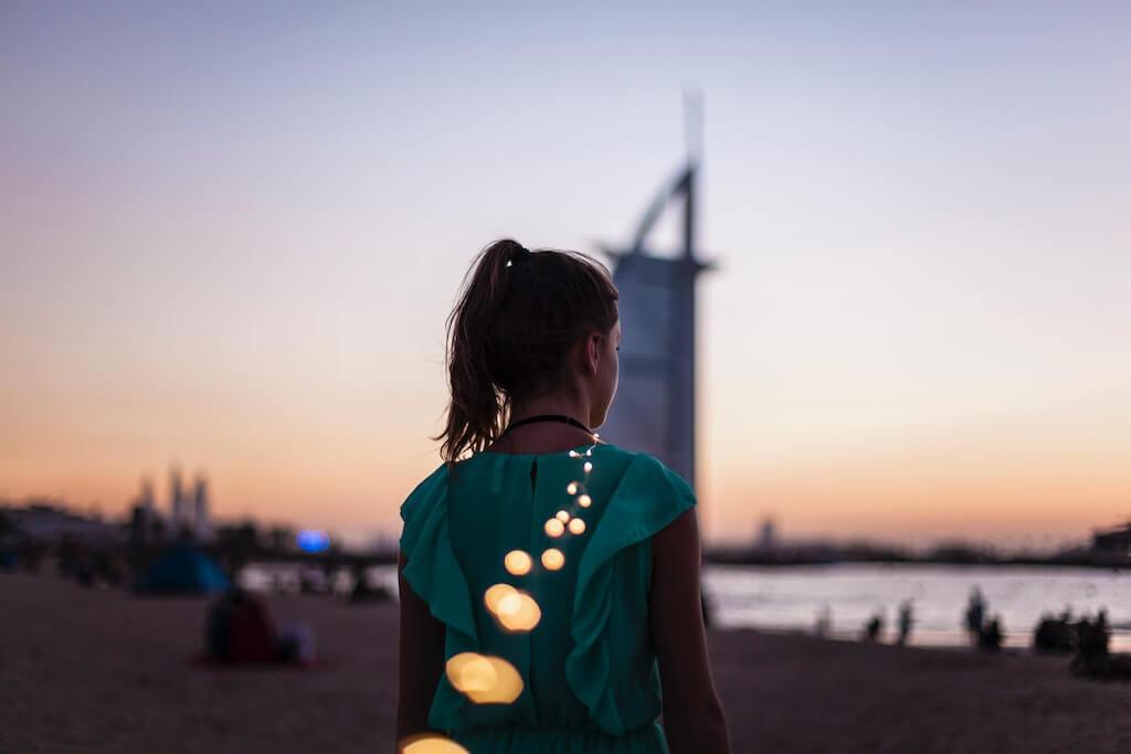 A girl in Dubai