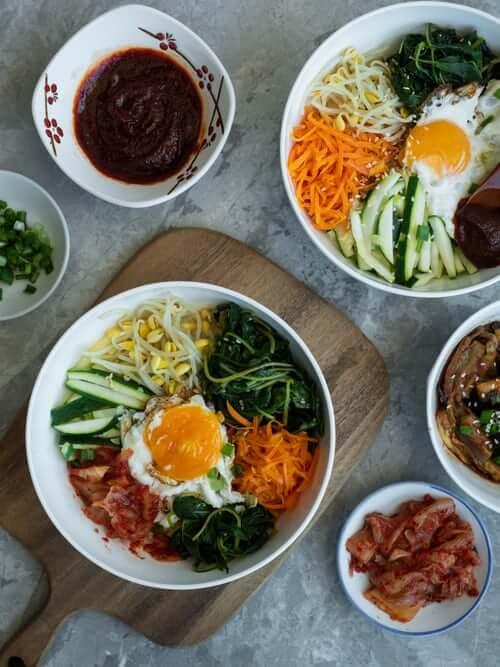 bibimbap with Gochujang sauce