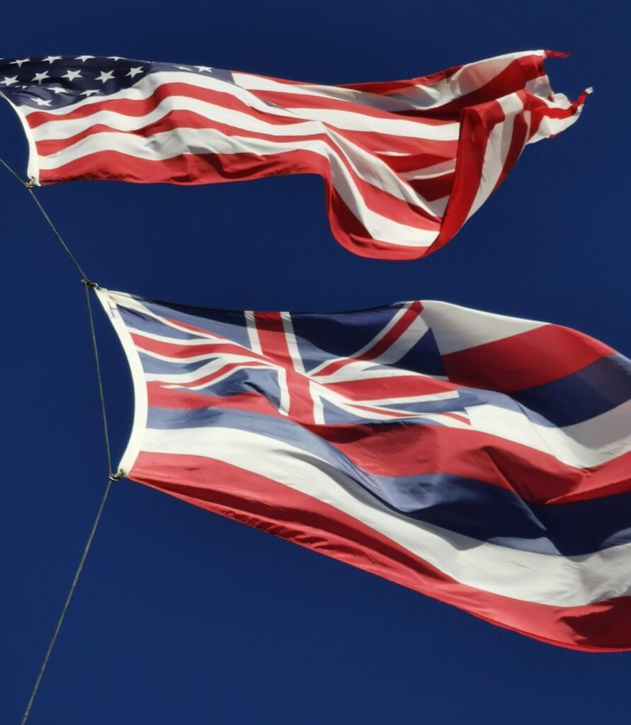 Hawaii 50th state flag