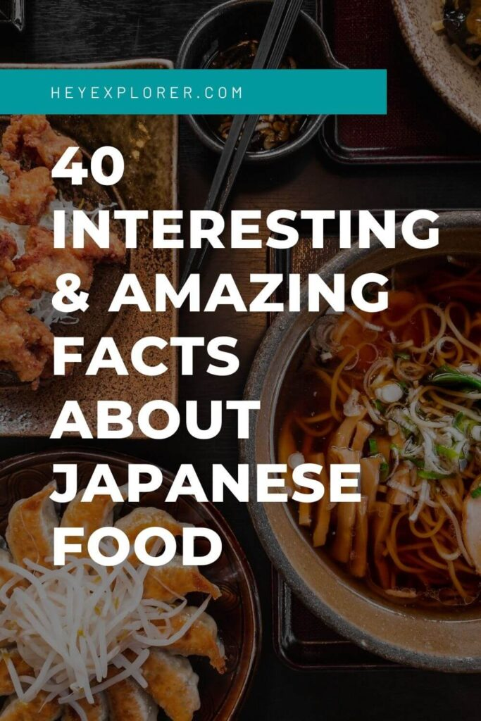 Japanese food facts