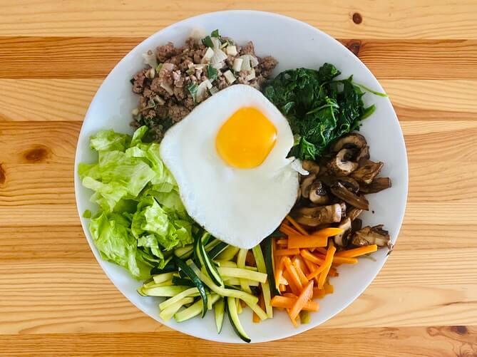 harmonious and balanced plate of korean food