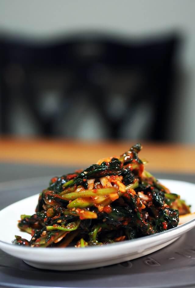One of the many types of Korean kimchi