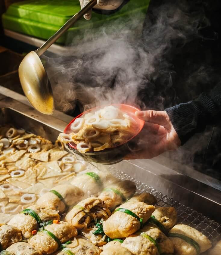 winter street food in korea