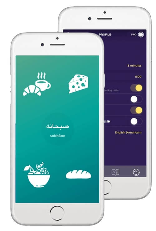 learn Persian with Drops app
