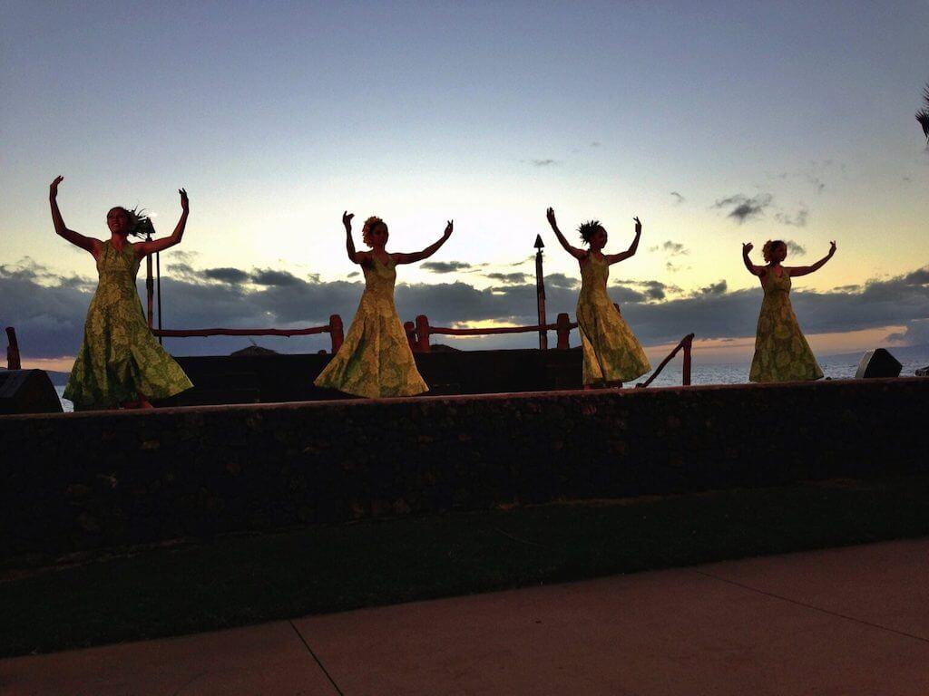 At a traditional Hawaiian luau