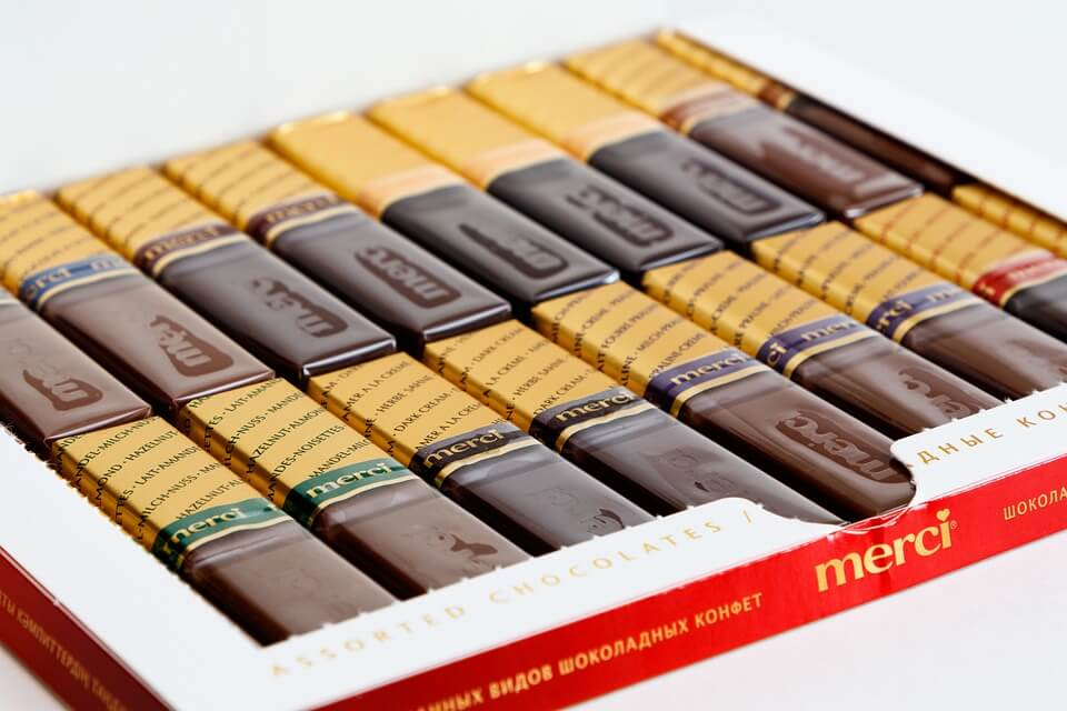 Merci is a famous German chocolate brand