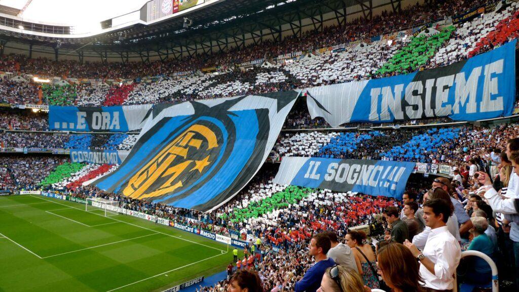 Milan Derby in a stadium