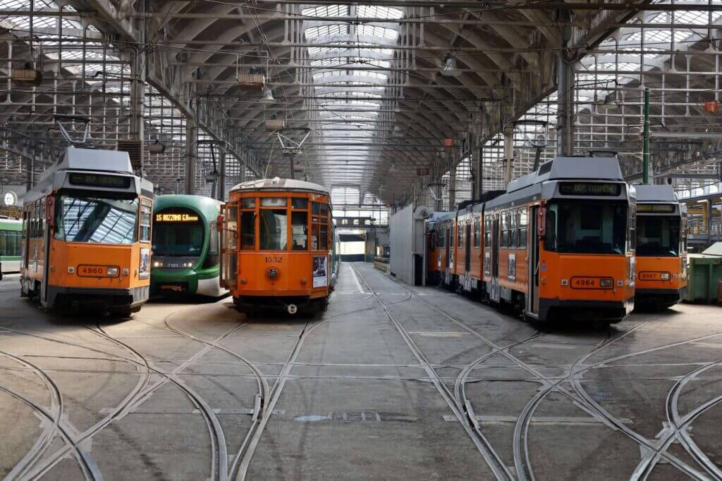 Trams in Milan