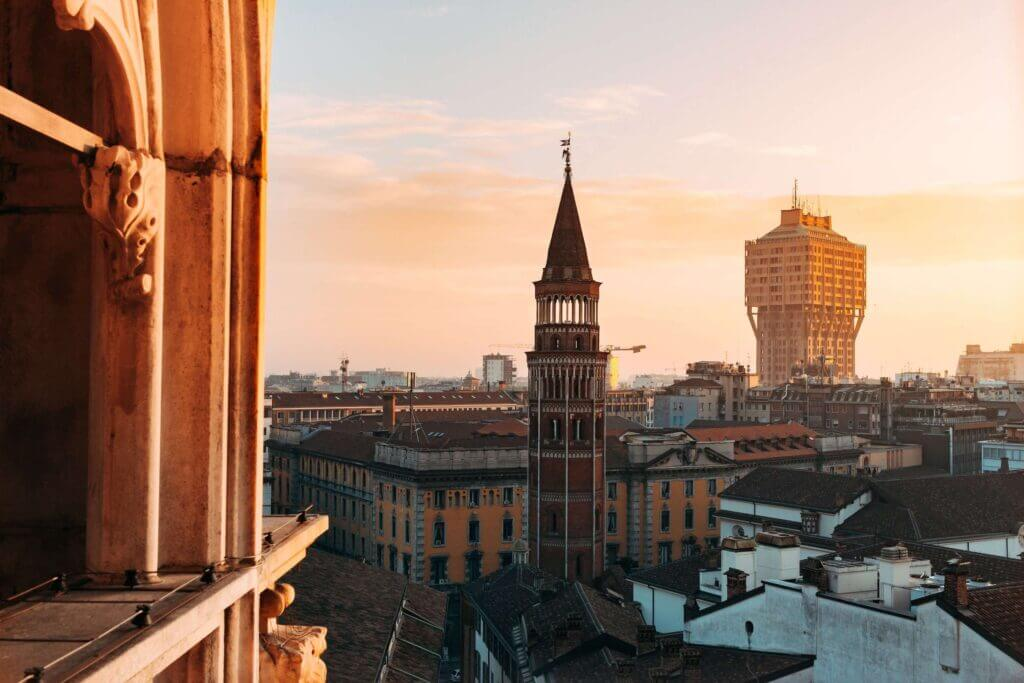 View from Duomo in Milan