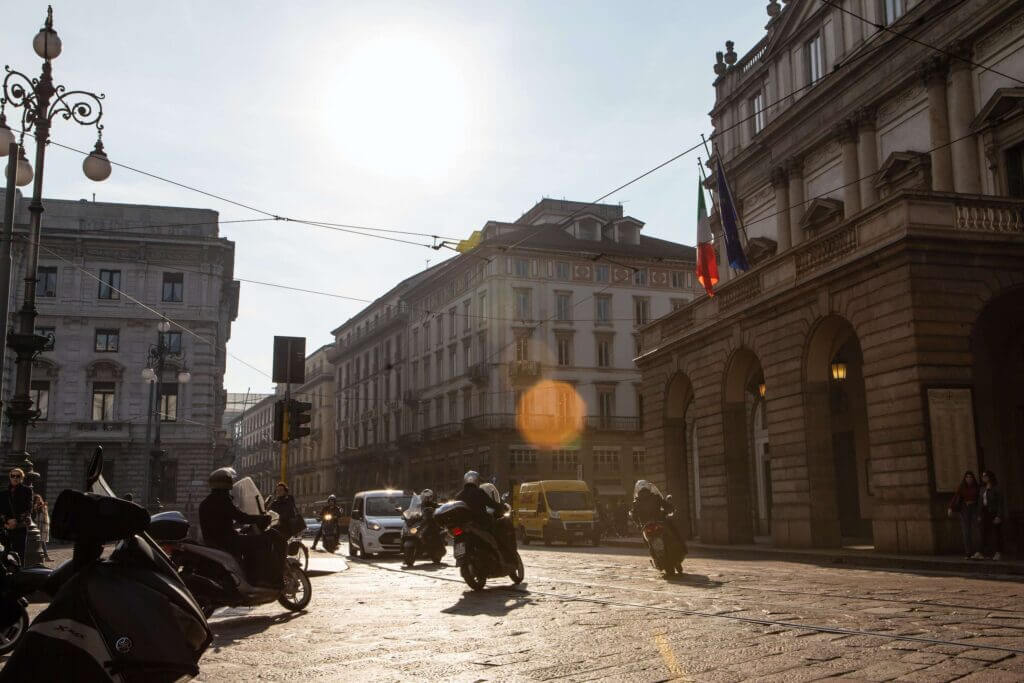 The streets of Milan