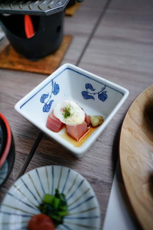 simple small plate of japanese food