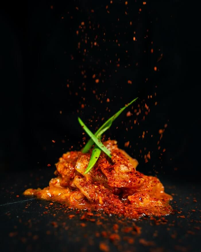 spicy kimchi in Korean chili pepper