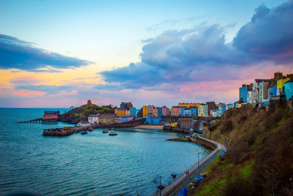 Tenby, a harbour town in Wales
