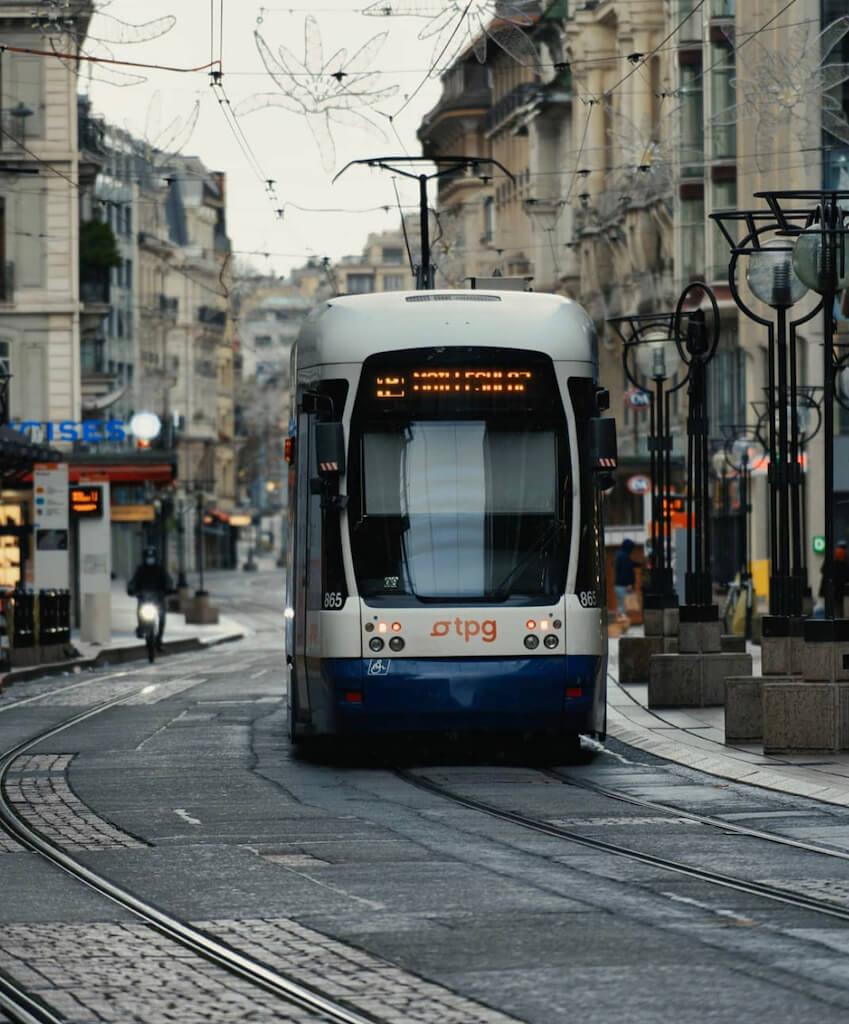 A tram in Geneva