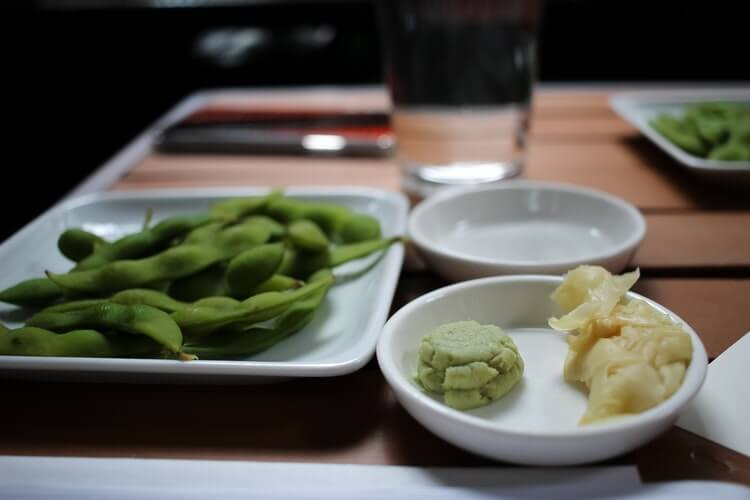 pickled ginger and wasabi