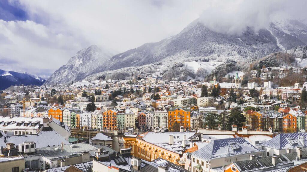 A town in the Austrian alps