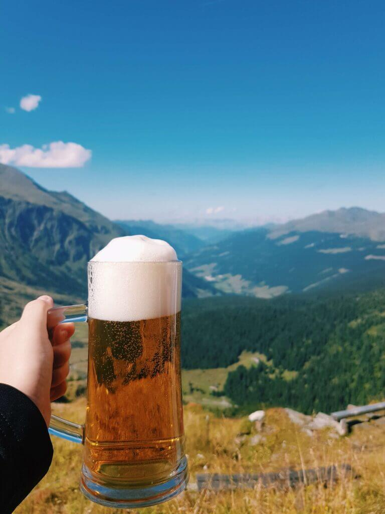 Austrian beer in the mountains