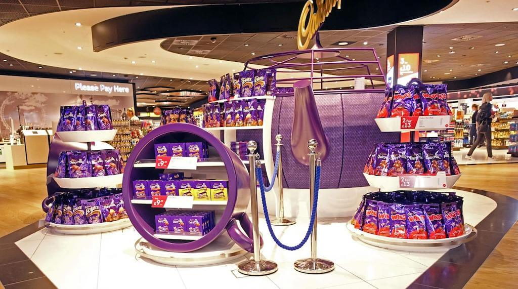 Cadbury chocolate shop in the UK