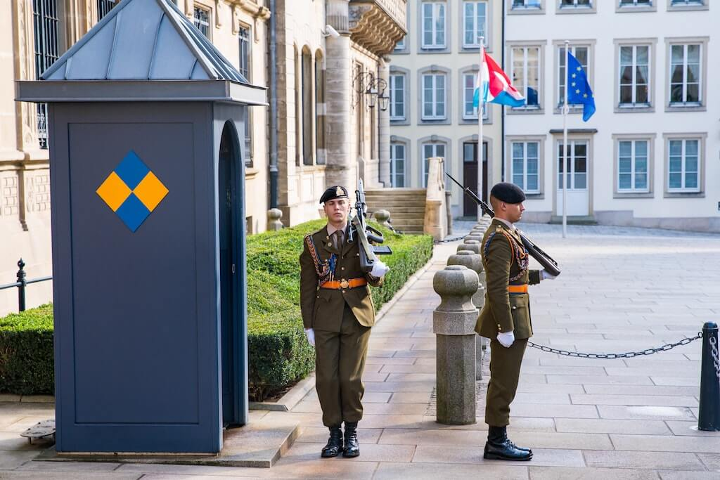 Palace Guards at the Palace of the Grand Duke in Luxembourg