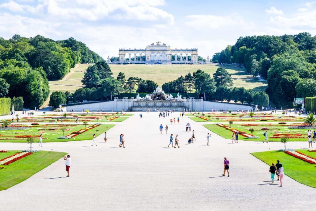 Beautiful park in Austria